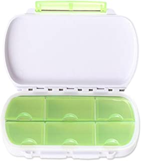 Caszel Foldable Waterproof 6 Slot Daily Pill Box Portable Travel Medicine Storage Organizer Vitamin Container Pill Dispensers
