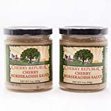 Cherry Republic Cherry Horseradish Sauce - Michigan Cherries - Spicy and Sweet - 9 oz Jar