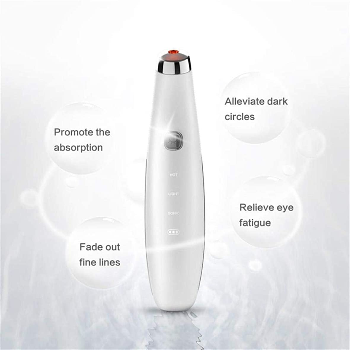アイマッサージャー、磁気アンチエイジングフェイシャルマッサージ、42°恒温熱処理、肌を引き締め、ダークサークルを改善し、目の下の袋、鈍い肌