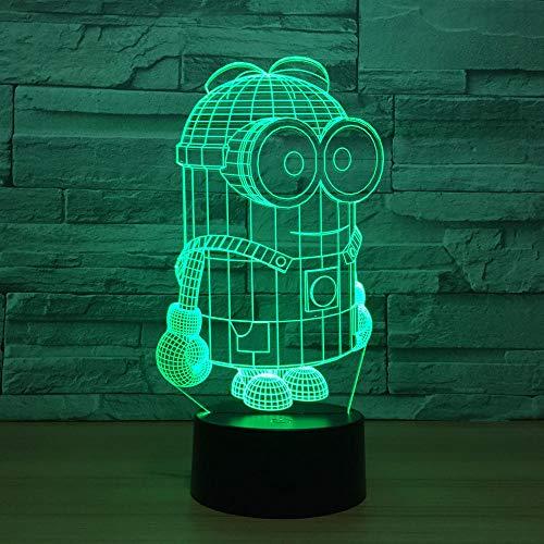 3D Illusion Lampe Led Nachtlicht Nette Cartoon Minions Schreibtischlampe Tischlampe 7 Farben Bunter Berührungsschalter Für Kind Baby Born Weihnachtsgeschenk