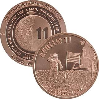 1 oz .999 Pure Copper Round/Challenge Coin (Apollo 11 50th Anniversary)