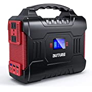 BUTURE 300W Portable Power Station, 266Wh Solar Outdoor Generator,110V Pure Sine Wave AC Outlet 12V/10A DC Out, CPAP Battery Power Supply, 72000mAh Power Bank for Outdoor Camping Travel Emergency
