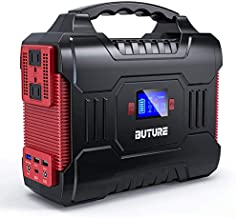 300W Portable Power Station (350W Peak), BUTURE 266Wh Solar Outdoor Generator, 72000mAh 60W PD Power Bank with Dual 110V Pure Sine Wave AC Outlets 12V/10A DC Out, CPAP Battery Power Supply for Camping