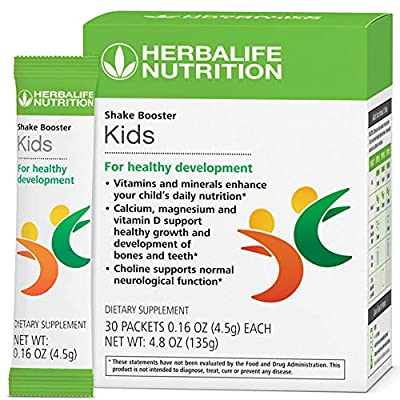 Herbal Kids for Healthy Development 30 Packets with Calcium Magnesium and Vitamin D Supports Health & Wellness
