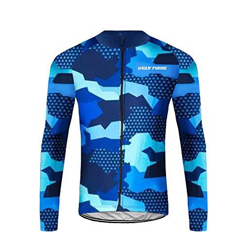Uglyfrog Ciclismo Magliette/Completo Ciclismo Abbigliamento Inverno Panno Termico Set di Abbigliamento Ciclista Maniche Lunghe Antivento Ciclismo Maglia + 3D Pantalone Imbottito