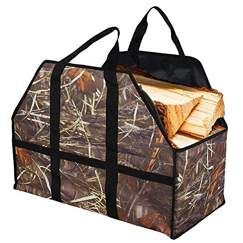 Sunris leña bolsa madera Log Carrier Bolsa de gran