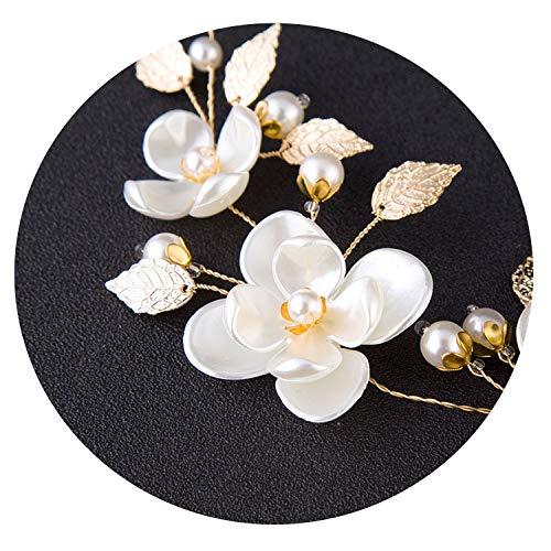 Flor del Pelo Cinta Perla Hecha a Mano de la Novia Coreana...