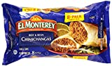 DELICIOUS BEEF AND BEAN CHIMICHANGAS – Bite into El Monterey Beef and Bean Chimichangas and your taste buds will delight in savory beef, flavorful beans and authentic Mexican spices wrapped in a lightly-fried, fresh-baked flour tortilla. It's America...
