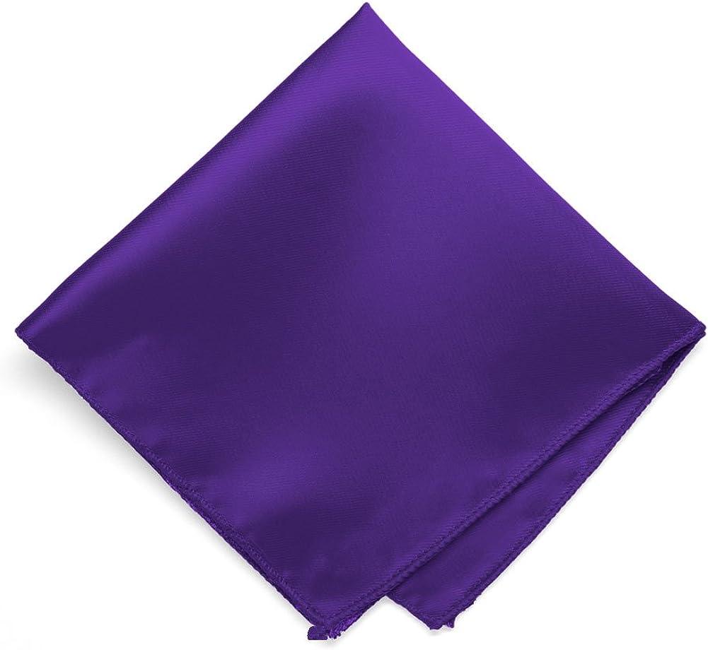 TieMart Dark Purple Solid Color Pocket Square