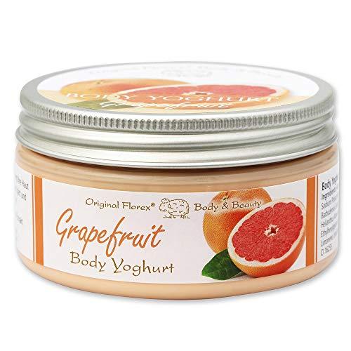 Florex Body Yoghurt - Grapefruit - erfrischend leichter Vitamin Body Jogurt Seidenweiche Haut 200 ml