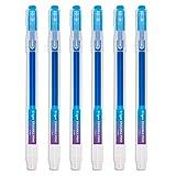Bolígrafo Borrable Punta 0.7 mm –Bolígrafo de Tinta Borrable Recargable Azul Paquete de 6 - Ezigoo - 9BL000