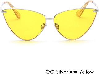 afc98dafea CjYtYj Gafas de Sol Cat Eye Gafas de Sol con Marco de Metal Transparente  Lentes de