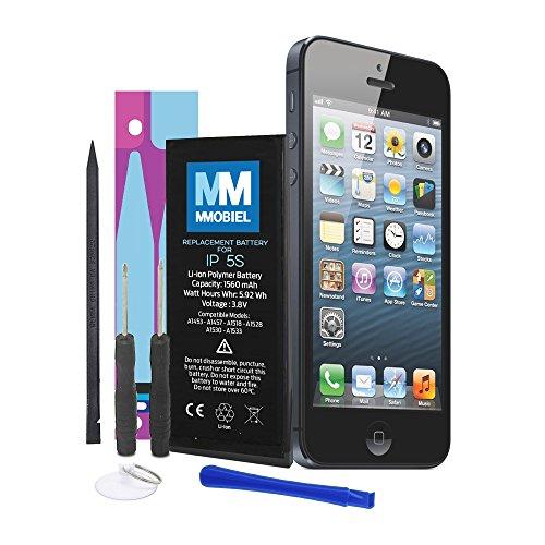 MMOBIEL Batería Compatible con iPhone 5S Li-Ion 3,8v 1560 mAh 5.92 WH Incluye Herramientas y Manual