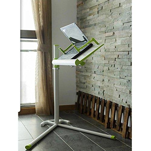 Bao Xing Bei Firm Table d'ordinateur Portable Chevet relevable Landmark Bureau d'ordinateur lit avec Support ipad Grand Ventilateur Panneau de Refroidissement Direction réglable (Color : Green)
