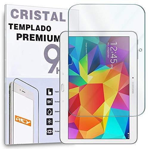 REY Protector de Pantalla para Samsung Galaxy Tab 4 10.1 Cristal Vidrio...