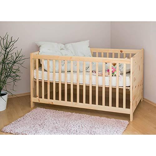 4betterdays.com NATURlich leben! Mitwachsendes Gitterbett/Kinderbett aus massivem Zirbenholz - inkl. Lattenrost - echte Handarbeit aus Deutschland