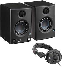 "PreSonus Eris E3.5 3.5"" 2-Way 25W Nearfield Monitors (Pair) with Polsen HPC-A30-MK2 Studio Headphones Bundle"