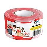 Absperrband | Flatterband | Warnband | Trassierband | Rot-Weiß | ausziehbar reißfest für...
