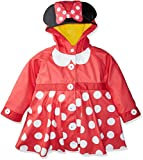 Western Chief Kids Disney Character lined Rain Jacket, Minnie Mouse, 5