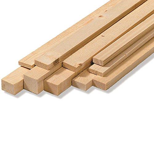 Listones para pared, en bruto, de madera de abeto, medidas: 2,5x 5x 200 cm