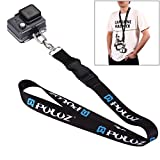 PULUZ 60cm Detachable Long Neck Chest Strap Lanyard Sling with Quick Release and Safety Tether for GoPro New Hero /HERO9 /8/7, DJI Osmo Action, Xiaoyi and Other Action Cameras
