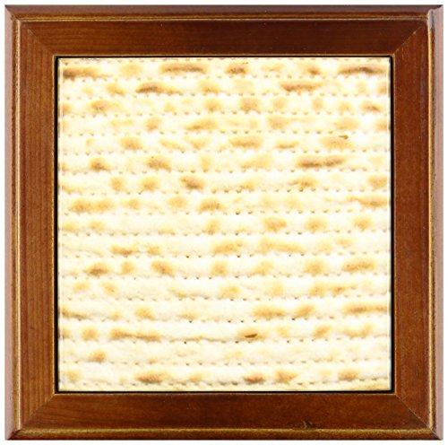 3dRose FT 112943_ 1Matzah Brot Textur Photo-for Pessach pesach-Funny jüdische Humor-Humorous Matze Judentum Food-Framed Fliesen, 820,3cm