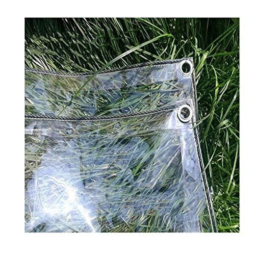 N / A Lona Plástico Transparente Impermeable de PVC para El Paño Lluvia Balcón Ventana Patio Al Aire Libre Toldos, Distancia del Agujero 50 Cm LINLIN (Color : Claro, Size : 1.8x4M)