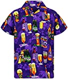 V.H.O. Funky Camisa Hawaiana, Beerbottle, Morado, M