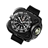 SureFire 2211 Rechargeable Variable Output WristLight with Luminox Watch, 300 Lumens, Anodized Body (2211-B-BK-LMX)