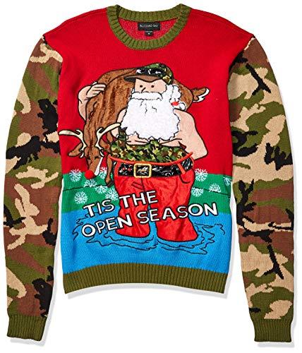 Blizzard Bay Men's Ugly Christmas Sweater Santa, Camo, Medium