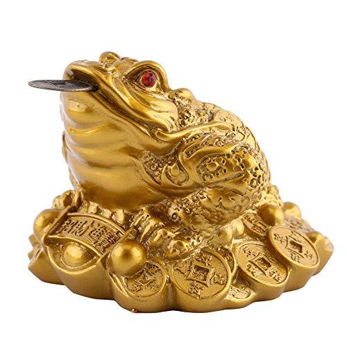 Rana de Dinero, Feng Shui Chino Riqueza Dinero de la Suerte Rana Moneda Sapo Feng Shui Dinero Rana Decoración de Oficina en casa Buen Regalo de la Suerte(Imitation Copper, Small Size 6X6X5 cm)