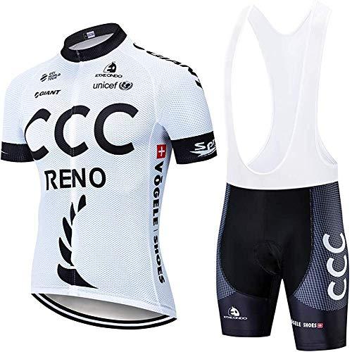 ZLYY Verano de los Hombres Cortos de Ciclismo Jersey, Jersey de Ciclismo Transpirable Ciclismo Desgaste de Ciclo Cortocircuitos de Ciclo Corto (Color : A, Size : 3XL)