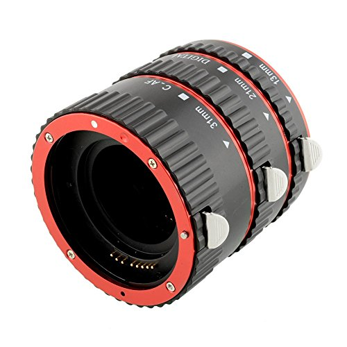 Cewaal Haihuic 3 Piezas Tubo de Extensión Macro Enfoque automático Compatible con EOS DSLR Lens Extreme Automatic