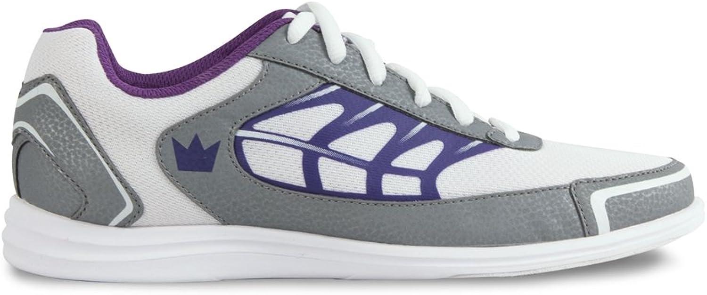 Brunswick Ladies Eclipse Bowling shoes- White Silver Purple