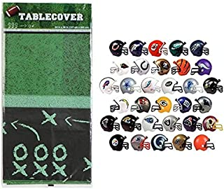 Football Table Cover with 50 Helmets Party Decoration Pack Birthday Sports Themed Set