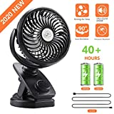 Best Clip Fans - COMLIFE 5200mAh Battery Operated Clip On Fan, Portable Review