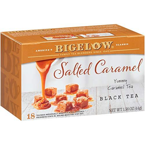 Bigelow Salted Caramel Black Tea Bags, 18 Count Box (Pack of 6) Caffeinated Black Tea, 108 Tea Bags Total