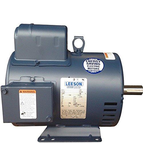 5 HP Single Phase Leeson Electric Compressor Motor 184T Frame C184K17DB31A 230 V