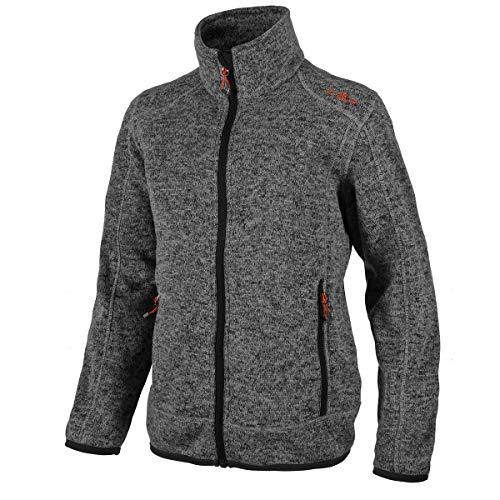 CMP – F.LLI Campagnolo Jungen Knit Tech Polyester-Strickfleecejacke Fleece Jacket, Stone-Nero, 92
