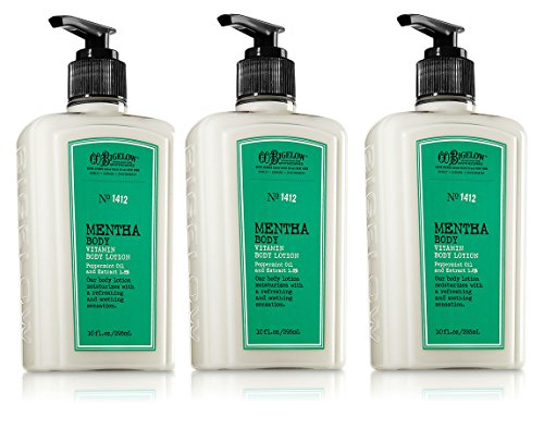 Lot of 3 C.O. Bigelow Mentha Body Vitamin Body Lotion 10 oz