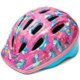 OutdoorMaster Toddler Kids Bike Helmet - Multi-Sport 2 Sizes Adjustable Safety Helmet for Children (Age 3-11), 14 Vents for Kids Skating Cycling Scooter - Unicorn,M