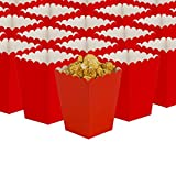 GAKA Red Open-Top Popcorn Box Set of 36 Popcorn Favor Boxes Cardboard Candy Container Parties Mini Paper Popcorn Containers