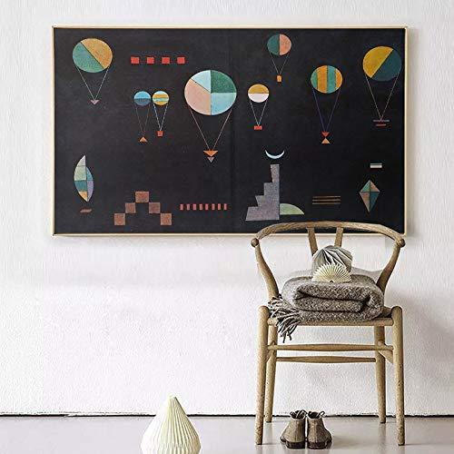 supmsds Sin Marco Wassily Kandinsky Composizione Senza pittura murale Quadro Decorativo per la casa Quadro su Tela 60x90cm
