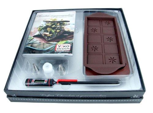 YOKO DESIGN 1198 Coffret Accessoires Chocolats et Gourmandises Carton Pelliculé Texte Coloris Argenté