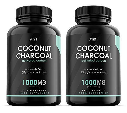 Activated Coconut Charcoal Capsules - 1000mg - Made from Organic Thai Coconut Shells - Non-GMO, 120 Vegan Capsules (2)