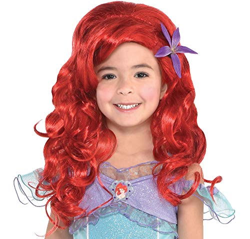 Suit Yourself Long Ariel Wig for Kids, The Little Mermaid, Halloween Costume Accessories, One Size