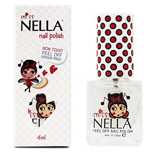 Miss Nella CONFETTI CLOUDS- Spezieller Nagellack mit Glitzer für Kinder, Peel-Off-Formel,...