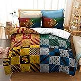 dreambeading Hypoallergenic Harry Potters Duvet Cover Set Lightweight Decorative Modern Style Microfiber Soft Bedding Set, 1 Duvet Cover&2 Pillow Cases, No Comforter Style1 King
