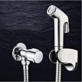 FZHLR Double Mode Chrome Abs Sprayer Hand Held Toilet Bidet Spray Shattaf Douchette Wc Set & Shower Hose,B