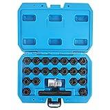 beley 22pcs wheel lock key removal kit for vw audi volkswagen, wheel anti-theft lock lug nuts screw